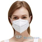 1 Pcs Face Cover Disposable for General Use 4 Ply Elastic Ear-loop Dust