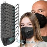10 Pcs Resporator Masks Black Color - Lightweight Comfortable on Skin