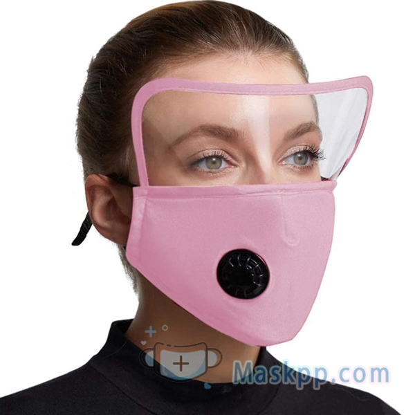 1 Pcs Men Women Face Cloth Cover Dust-proof Reusable Breathable Full Face Protection Masks Pink