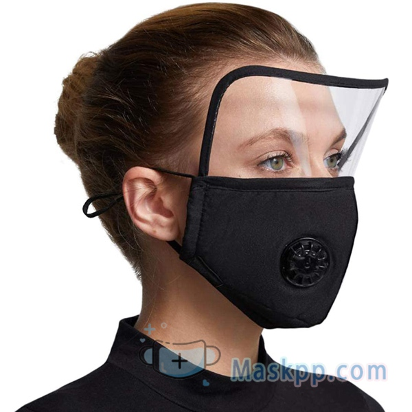 1 Pcs Face Cloth Cover Dust-proof Reusable Breathable Full Face Protection Masks Black
