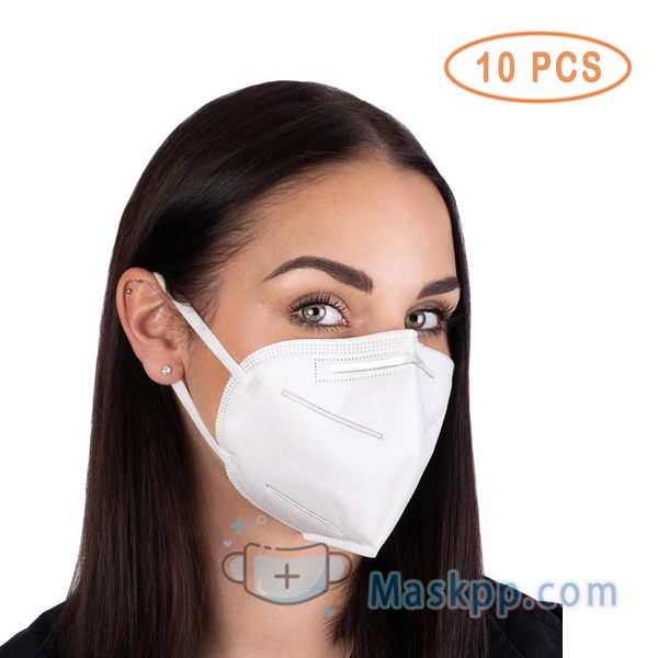10 Pcs 4 Layer Face Mask - PM2.5 Protection with Elastic Earloop and Nose Bridge Clip