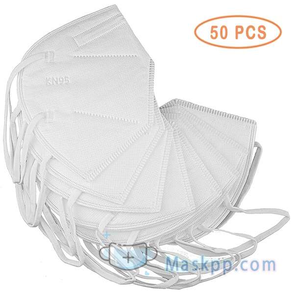 50 Pcs 5-Ply Disposable Protective Face Masks 95+% Efficiency