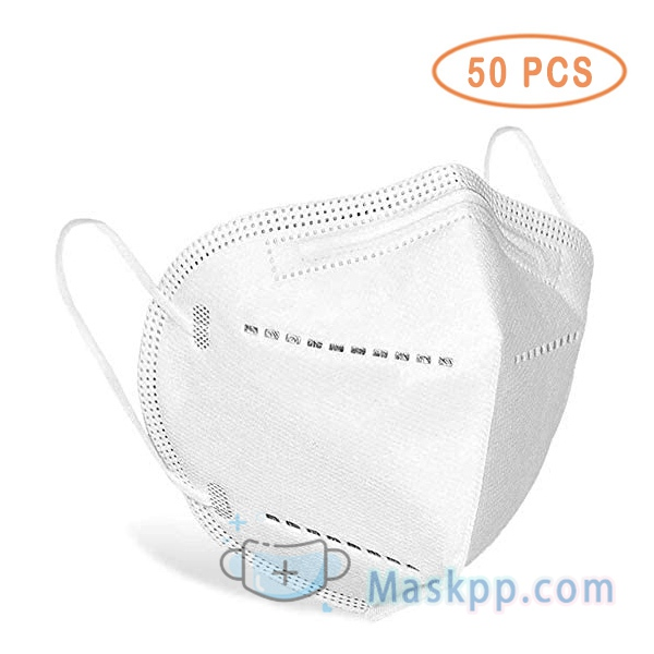 50 Pcs Face Mask 5-Layer White Mask-Liquid and Dust Proof - Face Protection