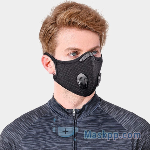 1 Pcs Reusable Unisex Mask Black Cotton Mouth Cover - Washable
