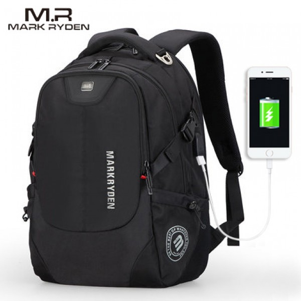 New Solar USB Recharging Backpack Water Resistant ...